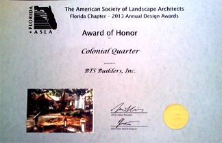 Design Award Colonial Quarter